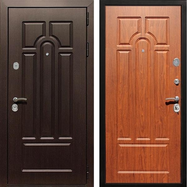Входная металлическая дверь Армада Эврика 3К (Венге / Орех)