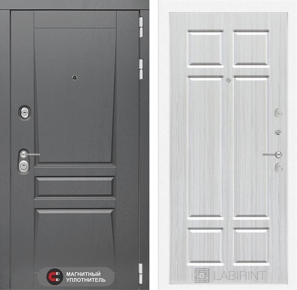 Входная металлическая дверь Лабиринт Платинум 8 (Альберо Грей / Кристалл вуд)