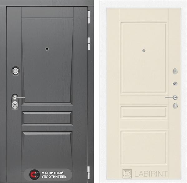 Входная металлическая дверь Лабиринт Платинум 3 (Альберо Грей / Крем софт)