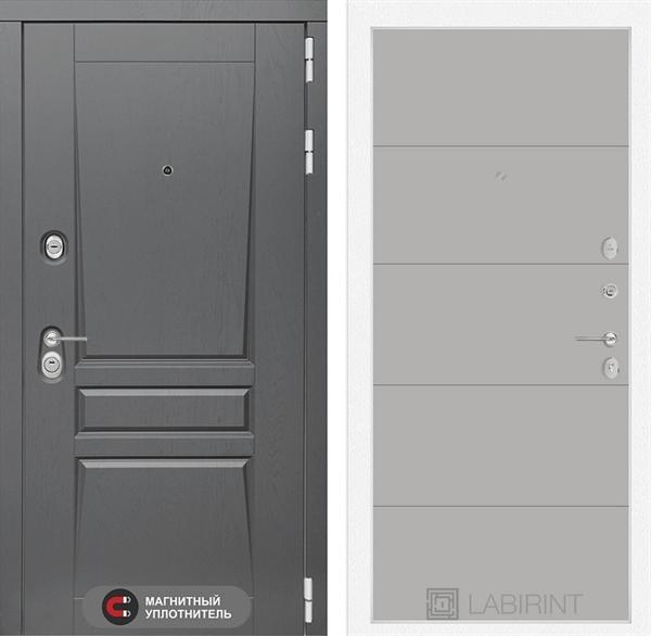Входная металлическая дверь Лабиринт Платинум 13 (Альберо Грей / Грей софт)