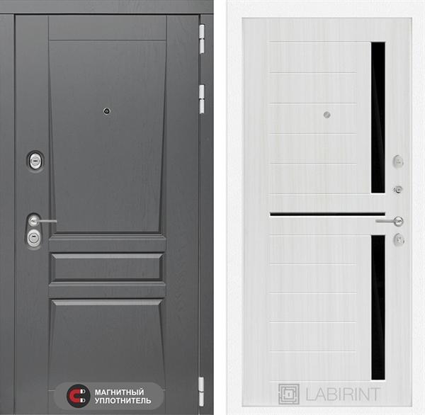 Входная металлическая дверь Лабиринт Платинум 2 (Альберо Грей / Сандал белый)