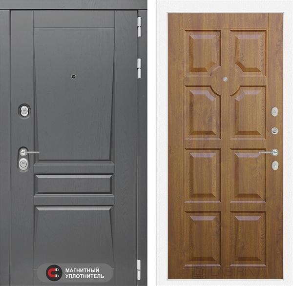 Входная металлическая дверь Лабиринт Платинум 17 (Альберо Грей / Золотой дуб)
