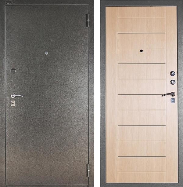 Входная металлическая сейф дверь Аргус ДА-1 (Серебро антик / Капучино)
