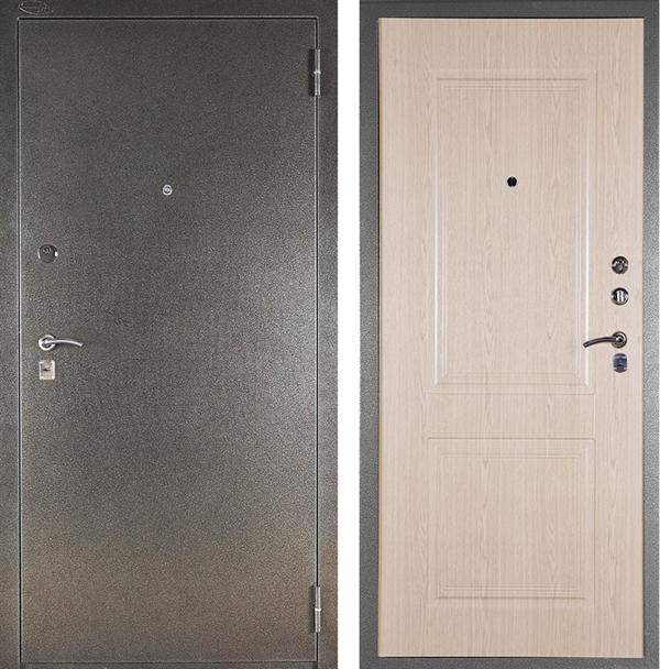 Входная металлическая сейф дверь Аргус ДА-15 Абсолют (Серебро антик / Дуб беленый)