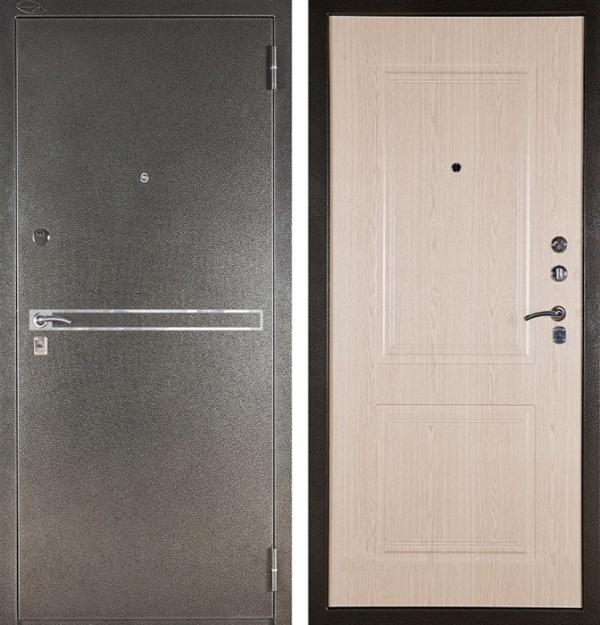 Входная металлическая сейф дверь Аргус ДА-15 Франк (Серебро антик / Дуб беленый)