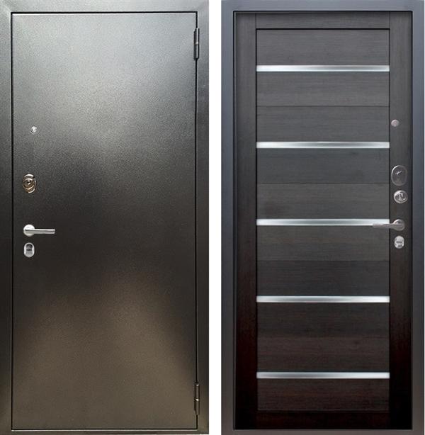 Входная металлическая дверь Аргус Люкс ПРО Александра (Серебро антик / Вельвет)