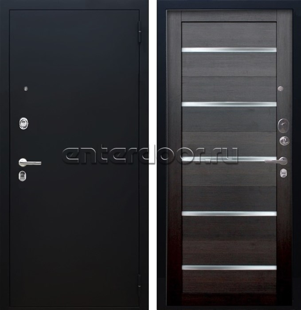 Входная металлическая дверь Аргус Люкс ПРО Александра (Чёрный шелк / Вельвет)