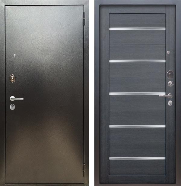 Входная металлическая дверь Аргус Люкс ПРО Александра (Серебро антик / Лунная ночь)