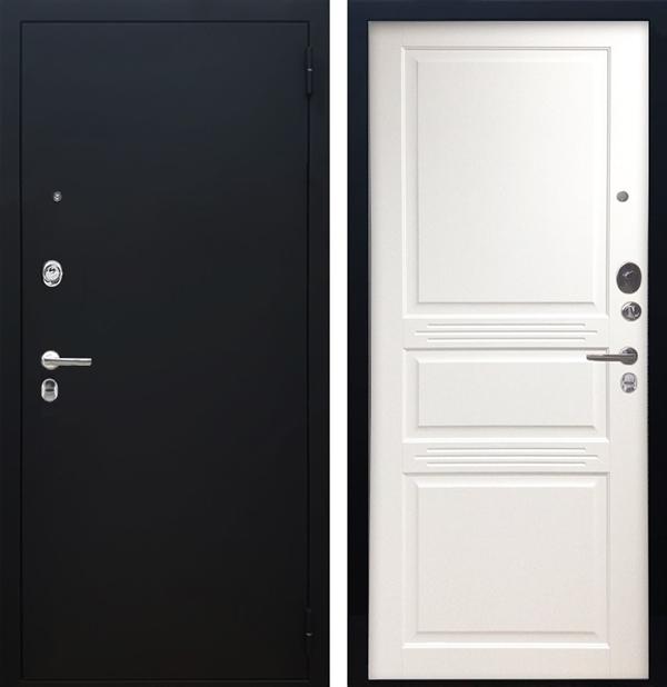 Входная металлическая дверь Аргус Люкс ПРО Джулия-2 (Чёрный шелк / Белый жемчуг)