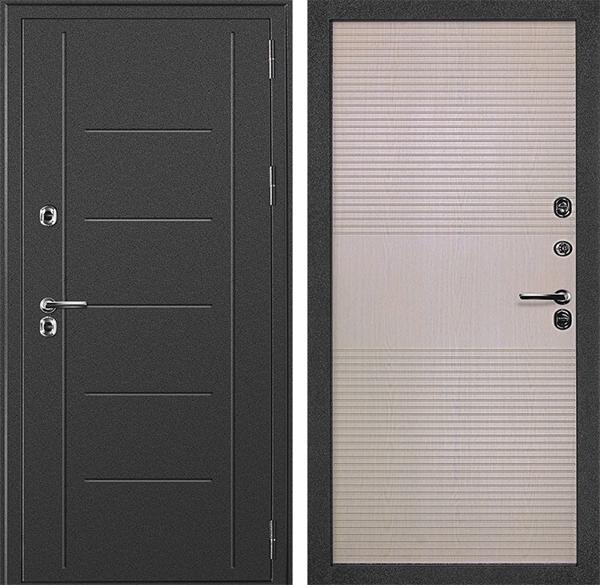 Уличная дверь с терморазрывом Дверной Континент Термаль (Дуб белёный)