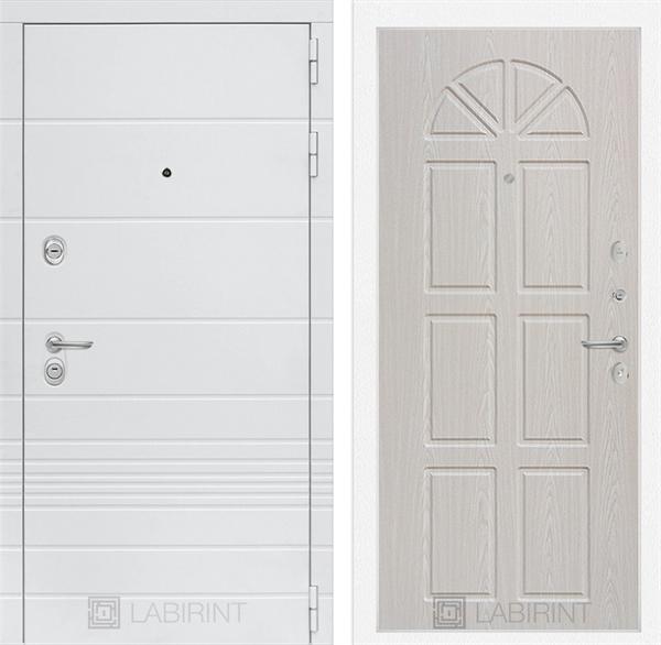 Входная металлическая дверь Лабиринт Трендо 15 (Белый камень / Алмон 25)