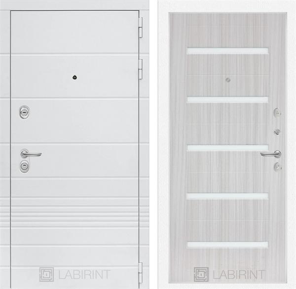 Входная металлическая дверь Лабиринт Трендо 1 (Белый камень / Сандал белый)