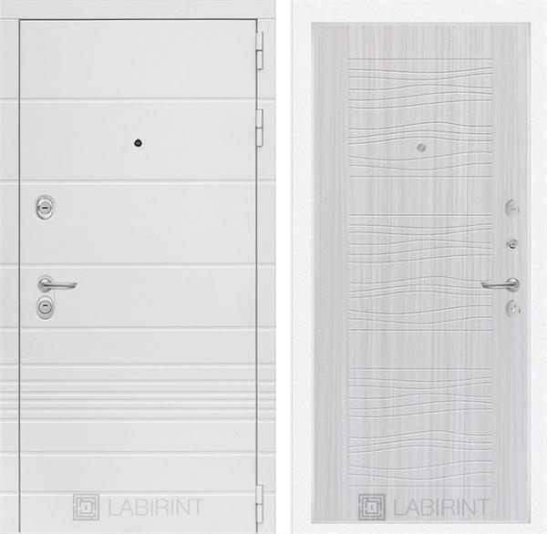 Входная металлическая дверь Лабиринт Трендо 6 (Белый камень / Сандал белый)