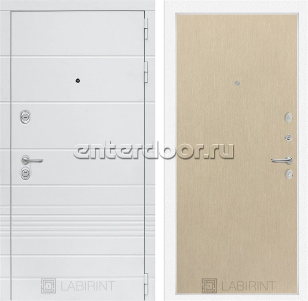 Входная металлическая дверь Лабиринт Трендо 5 (Белый камень / Венге светлый)