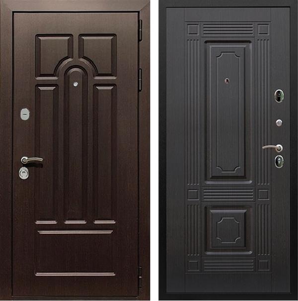 Входная металлическая дверь Армада Эврика 3К ФЛ-2 (Венге / Венге)