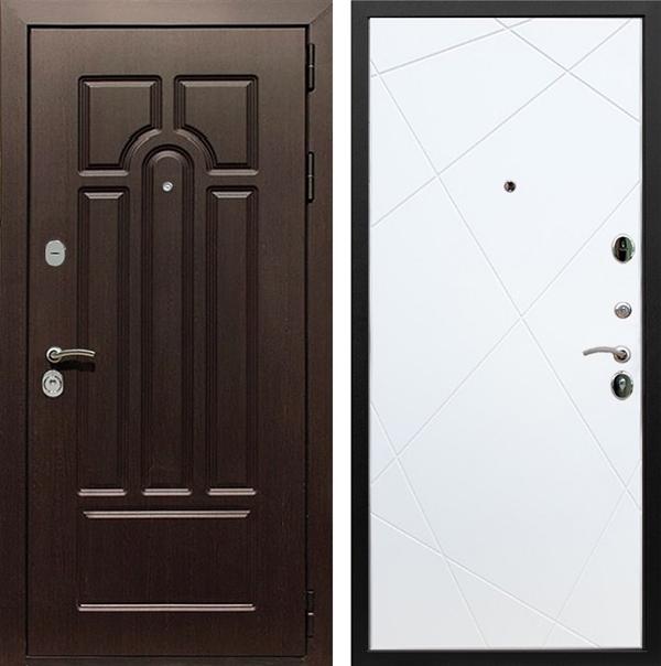 Входная металлическая дверь Армада Эврика 3К Лучи (Венге / Белый софт)
