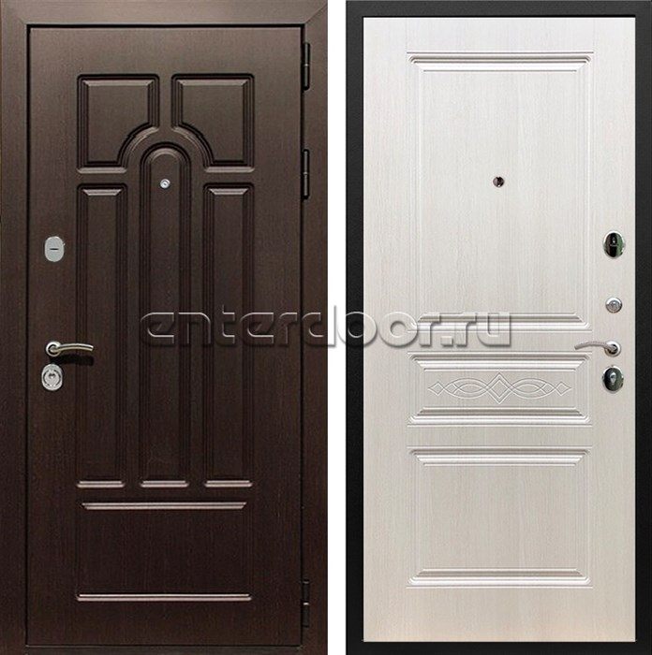 Входная металлическая дверь Армада Эврика 3К ФЛ-243 (Венге / Лиственница беж)