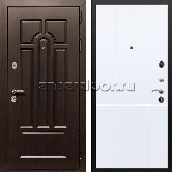 Входная металлическая дверь Армада Эврика 3К ФЛ-290 (Венге / Белый софт)