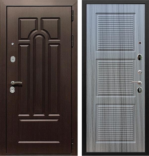 Входная металлическая дверь Армада Эврика 3К ФЛ-1 (Венге / Сандал серый)