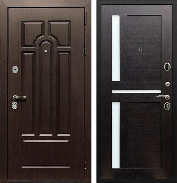 Входная металлическая дверь Армада Эврика 3К СБ-18 стекло белое (Венге / Венге)