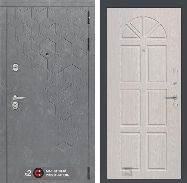 Входная металлическая дверь Лабиринт Бетон 15 (Бетон песочный / Алмон 25)