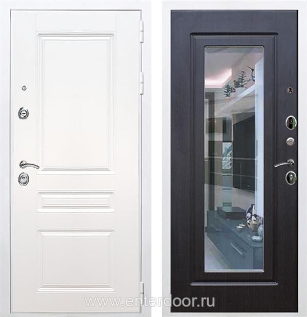 Входная металлическая дверь Армада Премиум Н с Зеркалом (Белый / Венге)