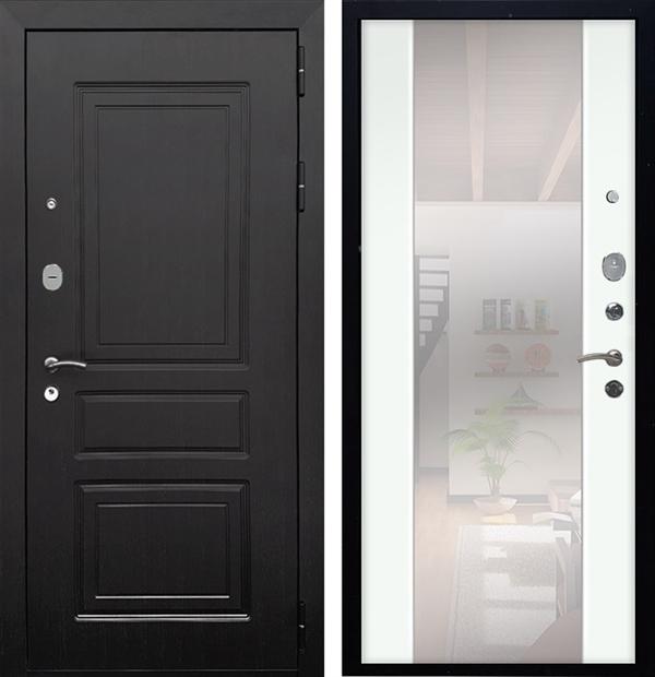 Входная металлическая дверь Армада Лондон СБ-16 с Зеркалом (Венге / Ясень белый)