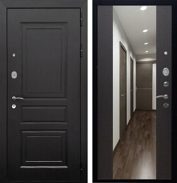Входная металлическая дверь Армада Лондон СБ-16 с Зеркалом (Венге / Венге)