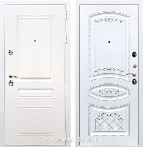 Входная металлическая дверь Армада Премиум Н ФЛ-316 (Белый / Белый патина Серебро)