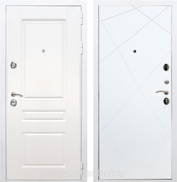 Входная металлическая дверь Армада Премиум Н Лучи (Белый / Белый софт)