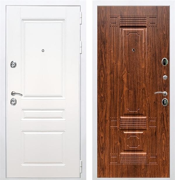 Входная металлическая дверь Армада Премиум Н ФЛ-2 (Белый / Берёза морёная)