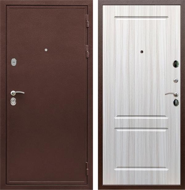 Входная металлическая дверь Армада 5А ФЛ-117 (Медный антик / Сандал белый)