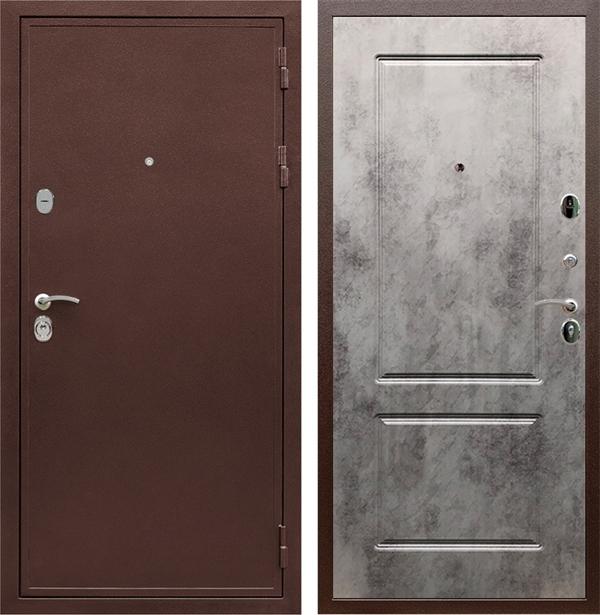 Входная металлическая дверь Армада 5А ФЛ-117 (Медный антик / Бетон темный)