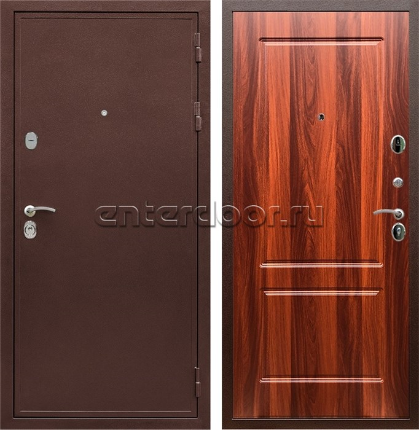 Входная металлическая дверь Армада 5А ФЛ-117 (Медный антик / Орех итальянский)