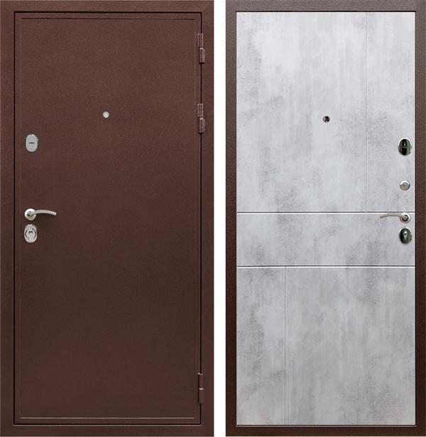 Входная металлическая дверь Армада 5А ФЛ-290 (Медный антик / Бетон светлый)