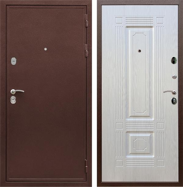 Входная металлическая дверь Армада 5А ФЛ-2 (Медный антик / Лиственница беж)