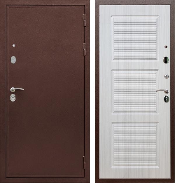 Входная металлическая дверь Армада 5А ФЛ-1 (Медный антик / Сандал белый)