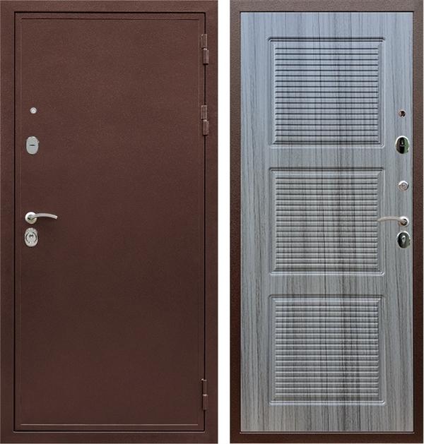 Входная металлическая дверь Армада 5А ФЛ-1 (Медный антик / Сандал серый)