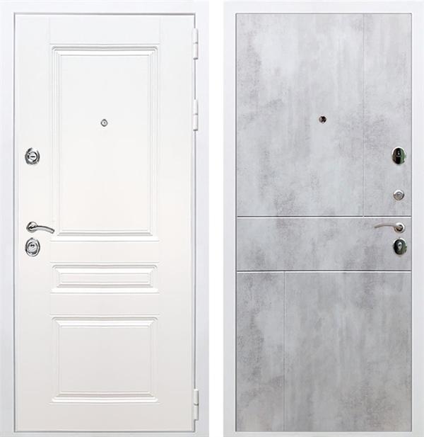 Входная металлическая дверь Армада Премиум Н ФЛ-290 (Белый / Бетон светлый)