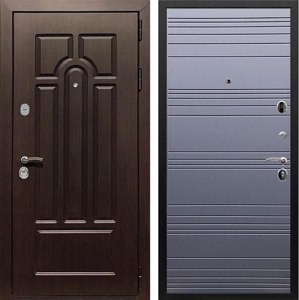 Входная металлическая дверь Армада Эврика 3К ФЛ-14 (Венге / Графит софт)