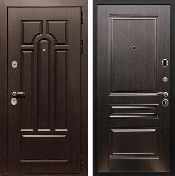 Входная металлическая дверь Армада Эврика 3К ФЛ-243 (Венге / Венге)