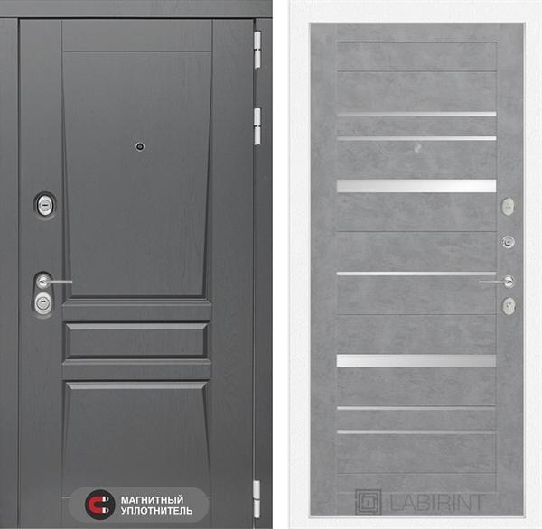 Входная металлическая дверь Лабиринт Платинум 20 (Альберо Грей / Бетон светлый)