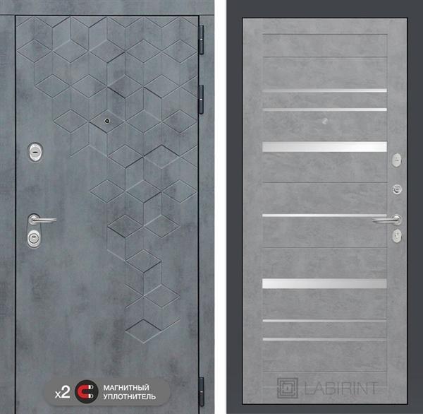 Входная металлическая дверь Лабиринт Бетон 20 (Бетон песочный / Бетон светлый)