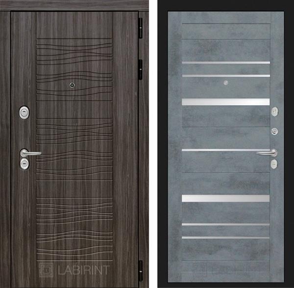 Входная металлическая дверь Лабиринт Сканди 20 (Дарк Грей / Бетон темный)