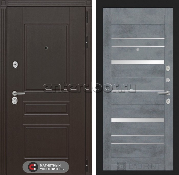 Входная металлическая дверь Лабиринт Мегаполис 20 (Венге / Бетон темный)