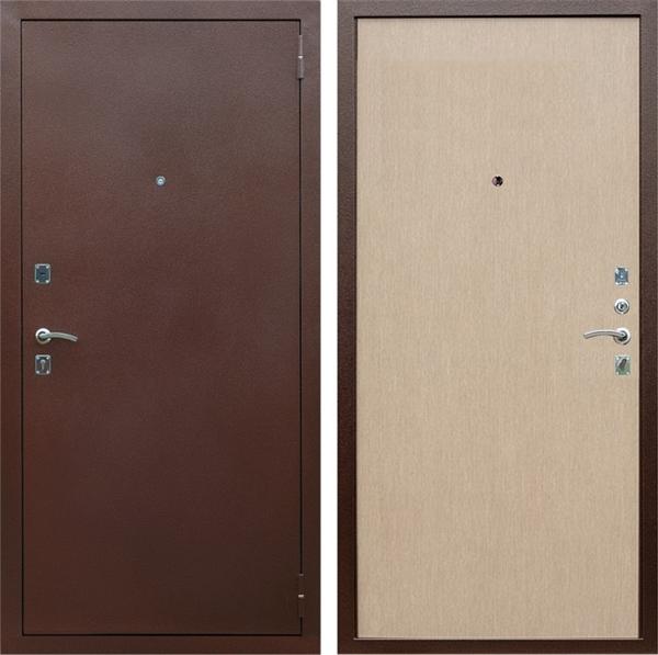 Входная металлическая дверь Армада Эконом (Антик медь / Дуб белёный)