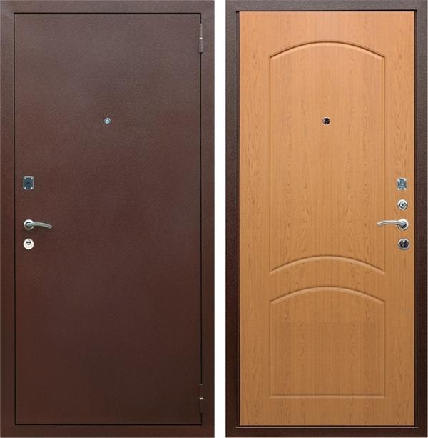 Входная металлическая дверь Армада 1А ФЛ-110 (Антик медь / Дуб натуральный)