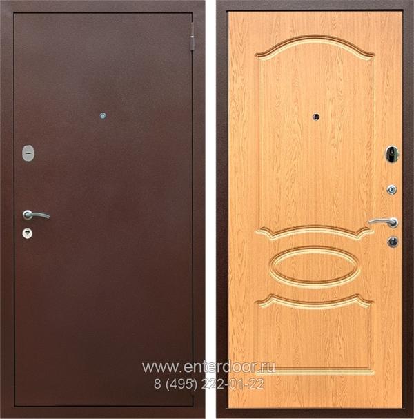 Входная металлическая дверь Армада 2 ФЛ-128 (Антик медь / Дуб натуральный)