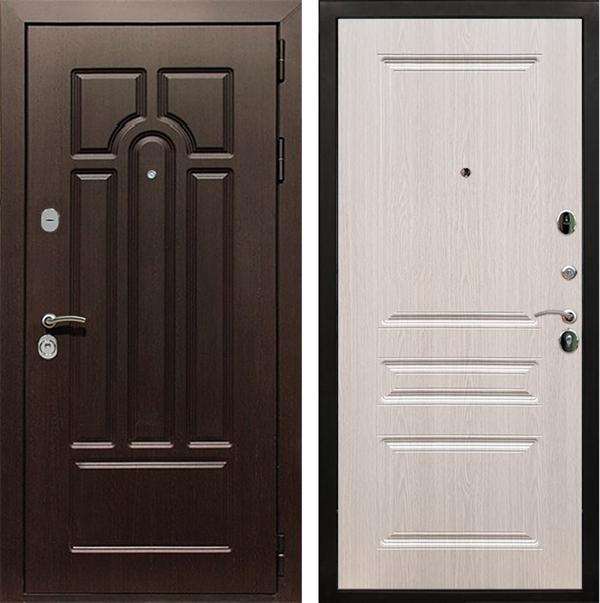Входная металлическая дверь Армада Эврика 3К ФЛ-243 (Венге / Дуб беленый)