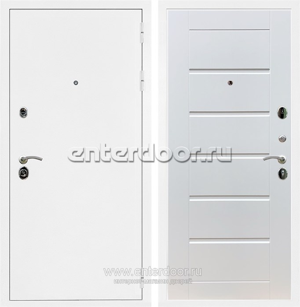 Входная металлическая дверь Армада 5А Сити (Белая шагрень / Белый ясень)